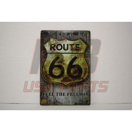 Route 66 wandplaat 20x30cm