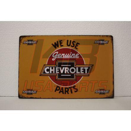 Chevrolet wandplaat 20x30cm