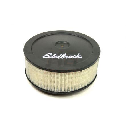 EDELBROCK 1203XxL 10X3.5 INCH LUCHT-FILTER ZWART
