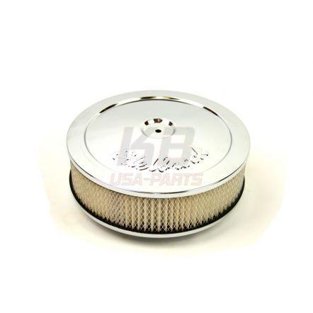 EDELBROCK 1208XL 10X2.8 INCH LUCHT-FILTER chrome