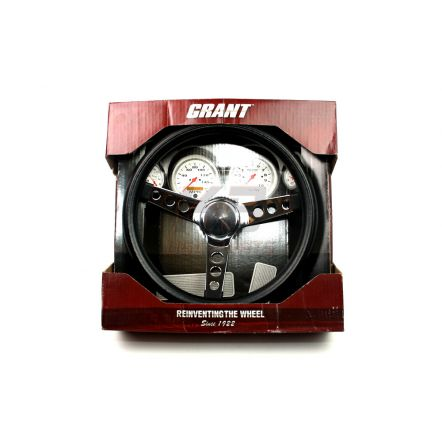 Grant 838 3 spaaks stuur 13.5 inch zwart kunstof met chrome