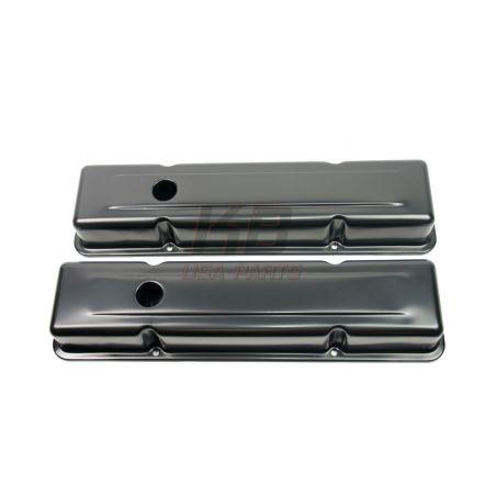 RPC R-9216BK Black KLEPDEKSEL SET CHEVY SMALL-BLOCK 283-305-327-350-383-400