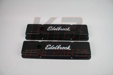 #4443 |Edelbrock® chevrolet s-b stalen klepdeksel zwart