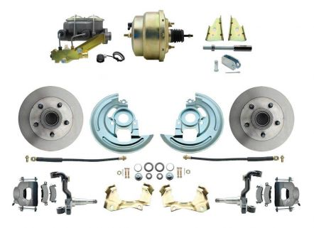 MBM DBK6472-GM-207 - 1964-1972 GM A Body Front Power Disc Brake Conversion Kit