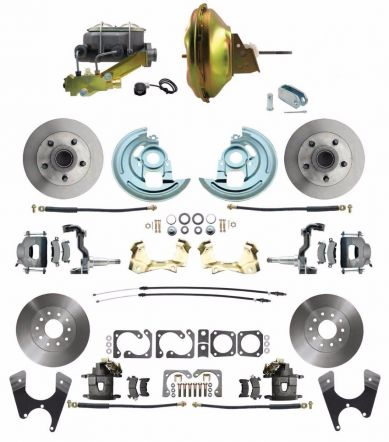 DBK64721012-GM-219 | MBM 1964-1972 GM A Body Front & Rear Power Disc Brake Conversion Kit