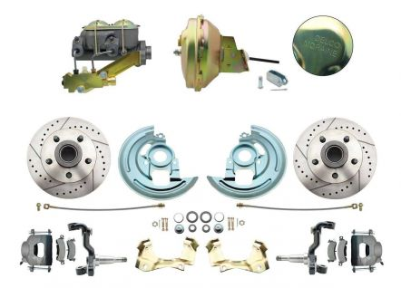MBM DBK6472LX-GM-232 - 1964-1972 GM A Body Front Power Disc Brake Conversion Kit