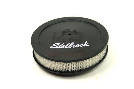 1203 | Edelbrock 10x2 inch lucht-fliter zwart