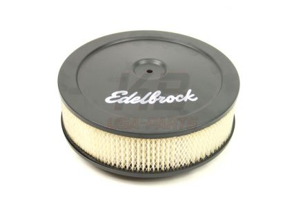 1203XL | EDELBROCK 10X2.8 INCH LUCHT-FIlTER ZWART