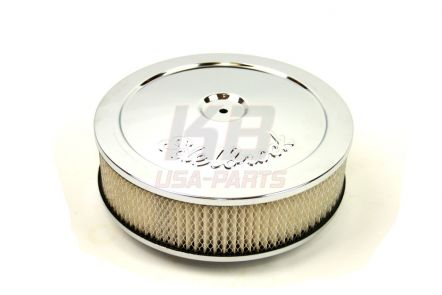 1208XL | EDELBROCK 10X2.8 INCH LUCHT-FILTER chrome