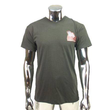 T-shirt V-hals KB USA-Parts Donker Grijs M t/m XXL