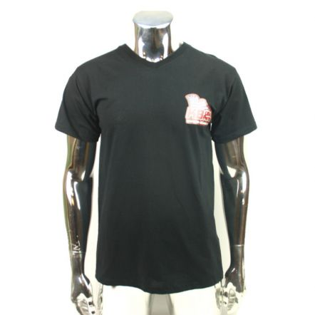 T-shirt V-hals KB USA-Parts Zwart M t/m XXL