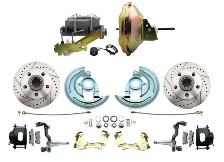 MBM DBK6472LXB-GM-227 1964-1972 GM A BODY FRONT POWER DISC BRAKE CONVERSION KIT