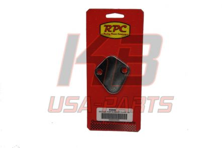 RPC R-2058 SBC fuel pump blovk off plate chrome
