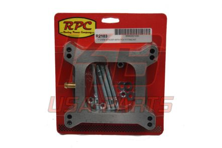 RPC R-2103 Carburateur Spacer 1 inch met slang aansluiting