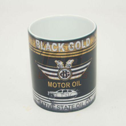 Black-Gold Motor Oil 11OZ Mok