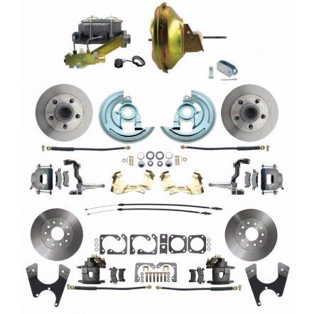 MBM DBK64721012-GM-219 - 1964-1972 GM A Body Front & Rear Power Disc Brake Conversion Kit