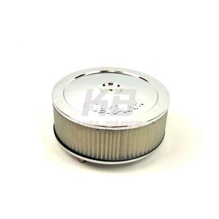 EDELBROCK 1208XXL 10X3.5 INCH LUCHT-FILTER chrome