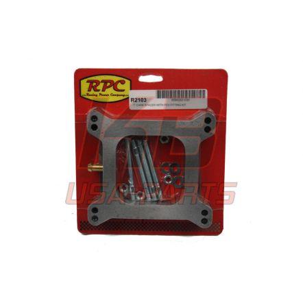 RPC R-2103 Carburateur Spacer 1 inch met slang aansluiting